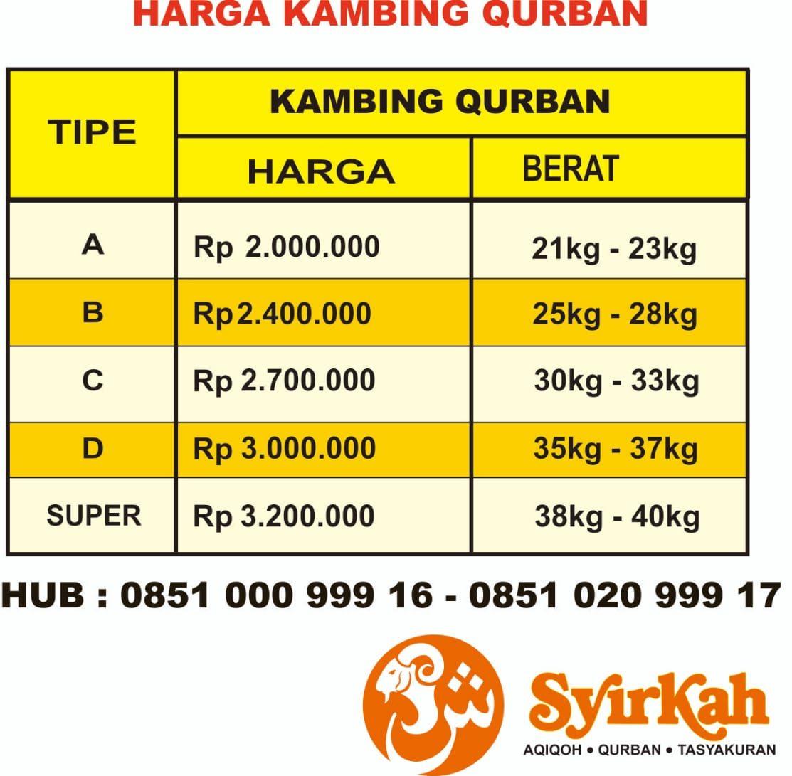 Harga Qurban Surabaya